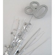 Number 80 Silver Top Foam Spray Pick Onion Pk 1