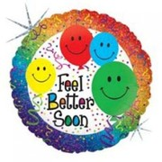 Feel Better Soon Holographic 18in Foil Balloon pk 1