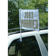 Just Married Car Flag (44.4cm) Pk 1