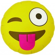 Winking Emoji 18in. Foil Balloon Pk 1