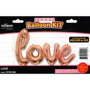 Giant Love Script Rose Gold Foil Balloon (84 x 41in) Pk 1