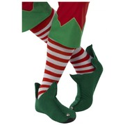 Christmas Long Red & White Striped Socks (1 Pair)