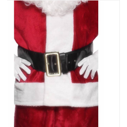 Santa Belt with Gold Buckle (145cm) Pk 1 (BELT ONLY)