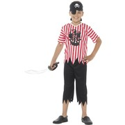 Child Jolly Pirate Boy Costume (Large, 10-12 Years)