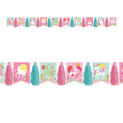 Magical Unicorn Glitter Tassel Garland Decoration Pk 1