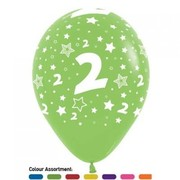 2 Multi AOP Metallic Latex Balloons Pk 50