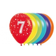 7 Multi AOP Latex Balloons Pk 50