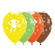 Assorted Jungle Animals AOP 30cm Latex Balloons Pk 50