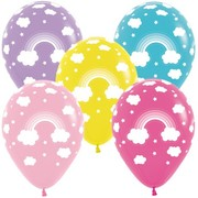 Multi Rainbow Standard Latex Balloons Pk 50