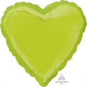 Kiwi Lime Green Heart 17in. Standard Foil Balloon Pk 1