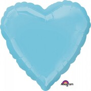 Metallic Caribbean Blue Heart 17in. Standard Foil Balloon Pk 1
