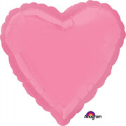 Metallic Bright Pink Heart 18in. Standard Foil Balloon Pk 1