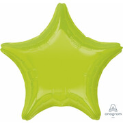 Metallic Kiwi Lime Green Star 19in. Standard Foil Balloon Pk 1