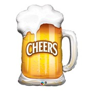 Oktoberfest Cheers Beer Mug Foil Supershape Balloon (89cm) Pk 1