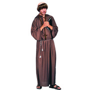 Brown Hooded Monk Robe (One Size) Pk 1