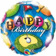 Happy Birthday Golf 18in. Foil Balloon Pk 1