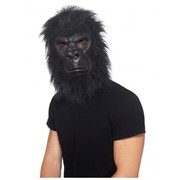 Halloween Adult Gorilla Foam Latex Mask with Hair Pk 1