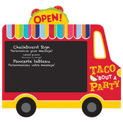 Mexican Fiesta Truck Chalkboard Easel Sign Decoration (35cm x 33cm) Pk 1
