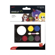 Clown Face Paint Make-Up Palette with Applicator Pk 1