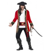 Adult Male Pirate Captain Costume (Large, 42-44)