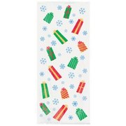 Snowman Gifts Cello Bags Pk20