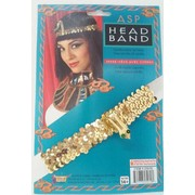 Egyptian Gold Sequin Snake Headband Pk 1 (HEADBAND ONLY)