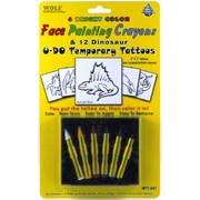 Face Paint Crayons with Colour In Dinosaur Tattoos Pk 1