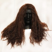 80's Party Wig - Heavy Metal Rocker Long Brown Pk1