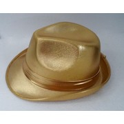 20's Gangster Gold Fedora Hat Pk 1