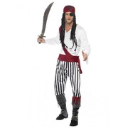 Adult Male Pirate Man Costume (Large, 42-44)