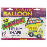 Construction Party Balloon - Foil Supershape Dump Truck Pk1