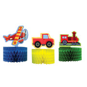 On The Go Mini Centrepiece Decoration Pk 3 (Assorted Designs)