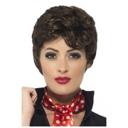 Rizzo Brown Short Curly Wig Pk 1