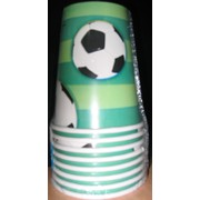 Soccer Party Cups - Soccer Ball Pk8