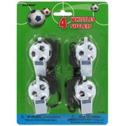 Party Favours - Soccer Ball Whistles Pk 4