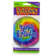 Foil Party Balloon - 18in Tye Dye Swirl Pk1