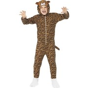 Tiger One Piece Suit Child Costume (Large, 10-12 Years)