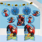 Incredibles 2 Room Decorating Kit (Centrepieces, Cutouts, Garland & Fans)