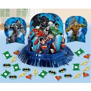 Justice League Table Decorating Kit (3 Centrepieces & Confetti)