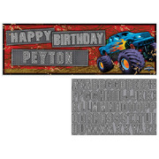 Mudslinger Monster Truck Customisable Giant Party Banner (152 x 50.8cm) Pk 1