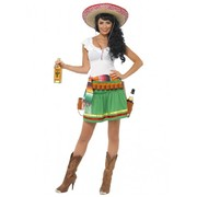 Adult Woman Mexican Tequila Shooter Costume (Small, 8-10)