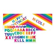 Large Rainbow Party Banner with Stickers Pk 1