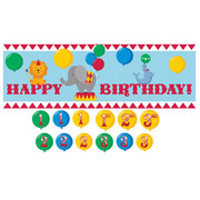 Circus Time Giant Party Banner (152 x 50.8cm) Pk 1