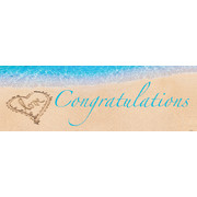 Beach Love Congratulations Giant Party Banner (152.4cm x 50.8cm) Pk 1
