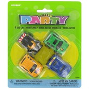 Party Favours - Die Cast Mini Cars Pk 4