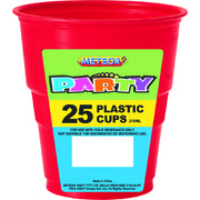 Ruby Red Plastic Cups (9oz-270ml) Pk 25