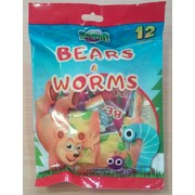 Bears and Worms Lollies (120g)