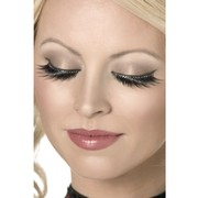 Glamour Eyelashes With Diamantes and Glue (1 Pair)