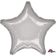 Metallic Silver Star 19in. Standard Foil Balloon Pk 1