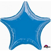 Metallic Royal Blue Star 19in. Standard Foil Balloon Pk 1